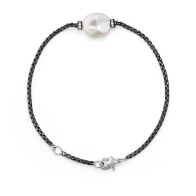 Solari Station Bracelet with Diamonds and Pearl