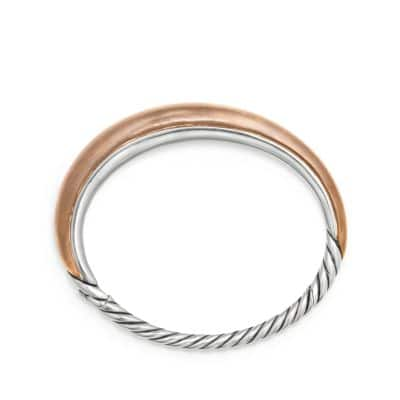 Pure Form® Mixed Metal Smooth Bracelet with Bronze and Silver, 9.5mm
