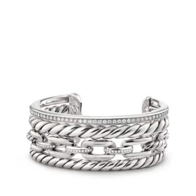 Wellesley Link™ Cuff with Diamonds, 27mm