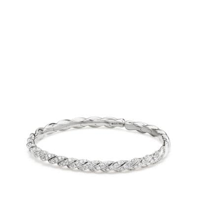 Paveflex Bracelet with Diamonds in White Gold