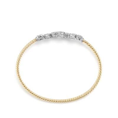 Precious Chatelaine® Bracelet with Diamonds in 18K Yellow Gold and 18K White Gold