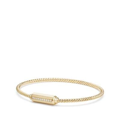Barrels Bracelet with Diamonds in 18K Gold