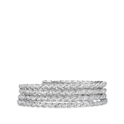 Paveflex Coil Bracelet with Diamonds in 18K White Gold