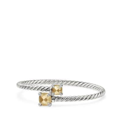 Chatelaine® Bypass Bracelet with 18K Gold and Diamonds