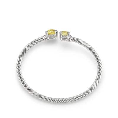 Chatelaine® Bypass Bracelet with Lemon Citrine and Diamonds