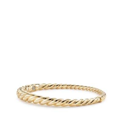 Pure Form® Cable Bracelet in 18K Gold, 6mm
