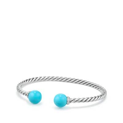 Solari Bracelet with Diamonds and Reconstituted Turquoise
