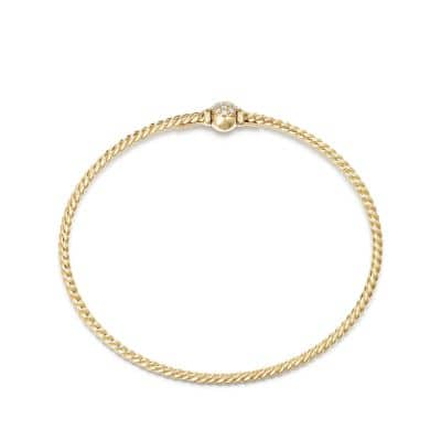 Petite Solari Station Pave Bracelet with Diamonds in 18K Gold
