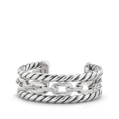 Wellesley Link™ Three-Row Cuff with Diamonds