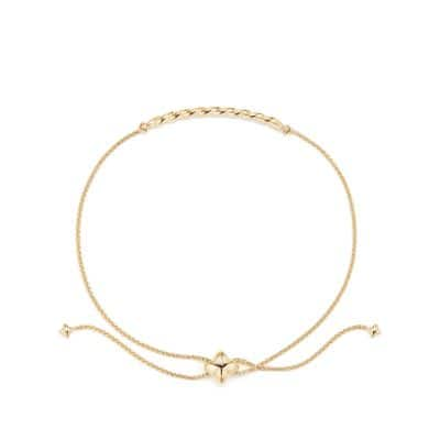 Paveflex Station Bracelet in 18K Gold
