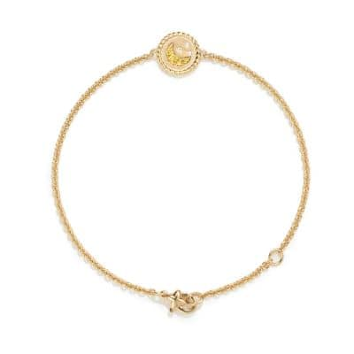 Cable Collectibles Moon and Stars Bracelet with Diamonds and Yellow Sapphires in 18K Gold