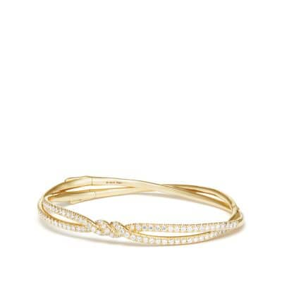 Continuance Pave Bracelet with Diamonds in 18K Gold
