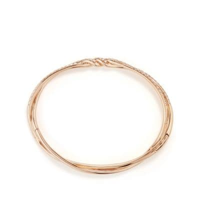 Continuance Pave Bracelet with Diamonds in 18K Rose Gold