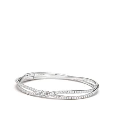 Continuance Pave Bracelet with Diamonds in 18K White Gold