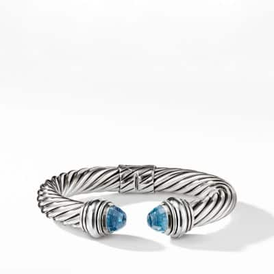 Cable Classics Bracelet with Blue Topaz, 10mm