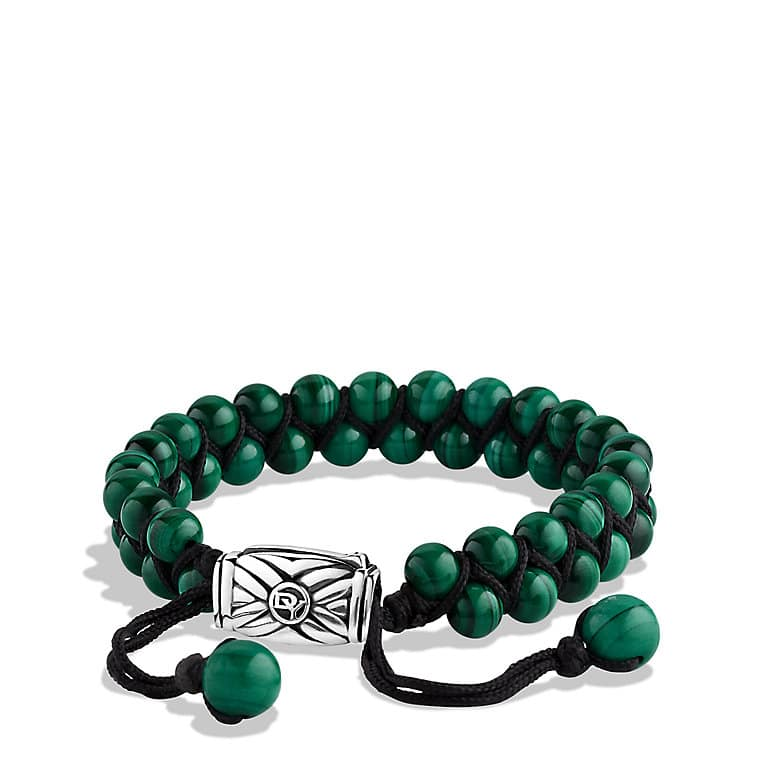 Spiritual Beads Two-Row Bracelet with Malachite