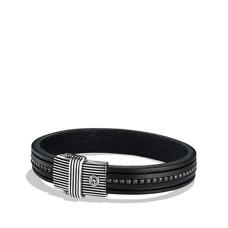 Royal Cord ID Bracelet with Black Spinels
