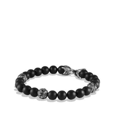 Spiritual Beads Bracelet with Black Onyx, 8mm