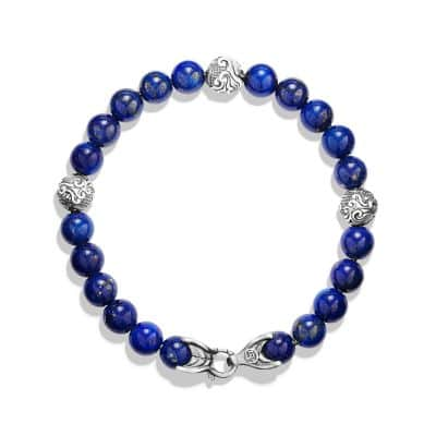Spiritual Beads Bracelet with Lapis Lazuli, 8mm