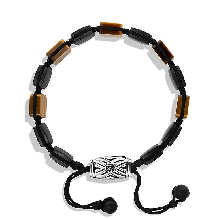 Spiritual Beads Five-Station Tile Bracelet with Tiger's Eye