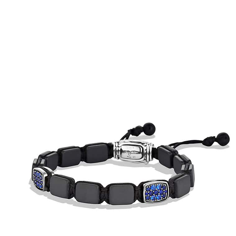 Spiritual Beads Two-Station Tile Bracelet with Sapphires