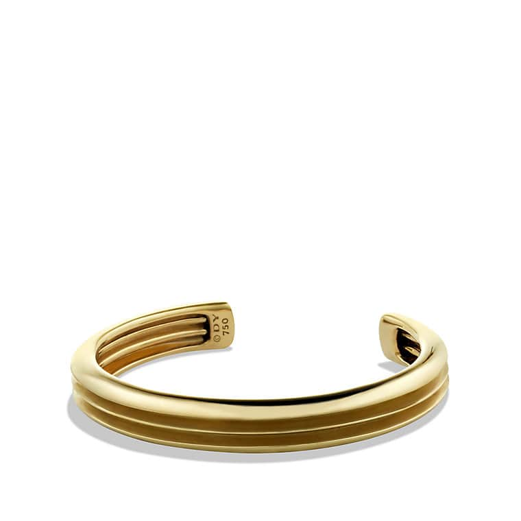 Knife Edge Cuff Bracelet in Gold
