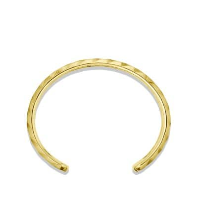 Modern Cable Cuff Bracelet in Gold