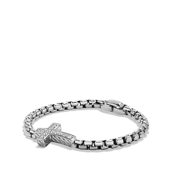 Pavé Cross Bracelet with Diamonds