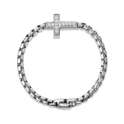 Pavé Cross Bracelet with White Diamonds