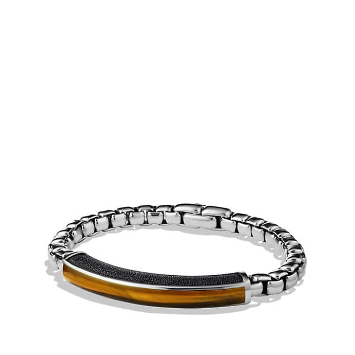 Exotic Stone ID Bracelet with Tiger's Eye