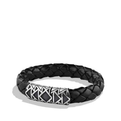 Southwest Bracelet in Black Leather