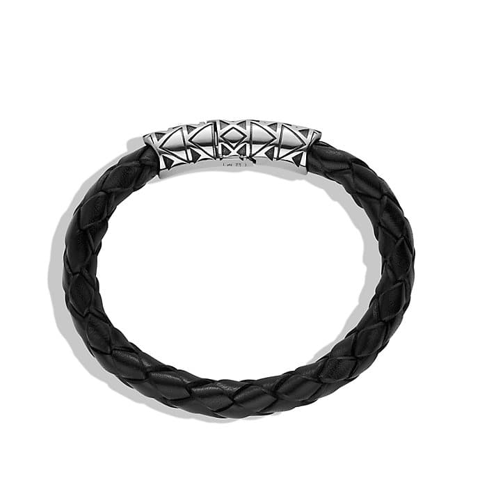 Frontier Bracelet in Black Leather