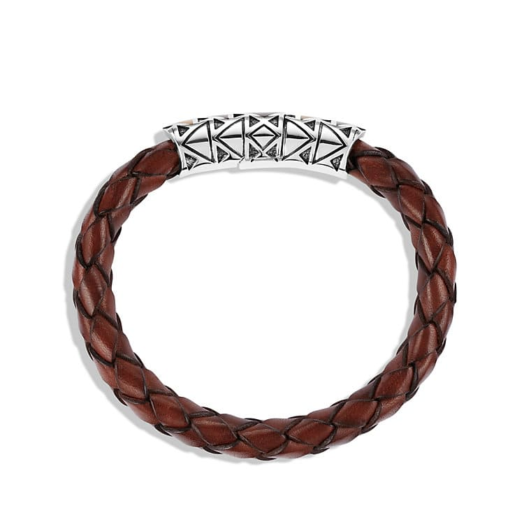 Frontier Bracelet with Tiger's Eye in Brown Leather