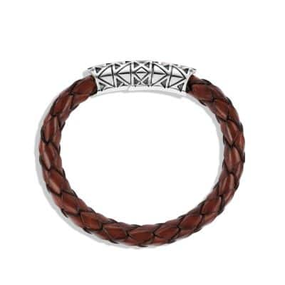 Southwest Bracelet with Tiger's Eye in Brown Leather
