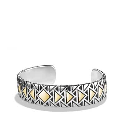 Southwest Cuff Bracelet with 18K Gold