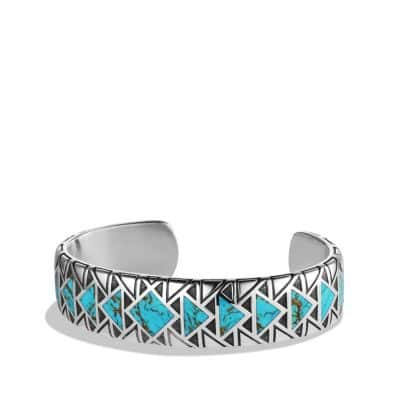 Cuff Bracelet with Turquoise