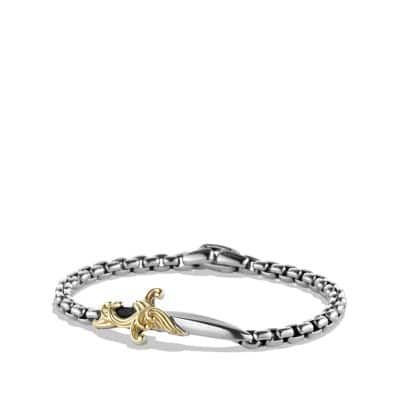 Waves Dagger Bracelet with Gold
