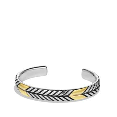 Modern Chevron Cuff Bracelet with 18K Gold