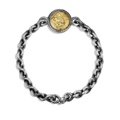 Petrvs Lion Bracelet with Gold