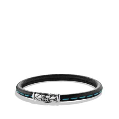 Leather Bracelet in Blue