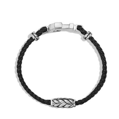 Anchor Bracelet with Black Diamonds