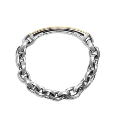 Streamline ID Bracelet  with 18K Gold