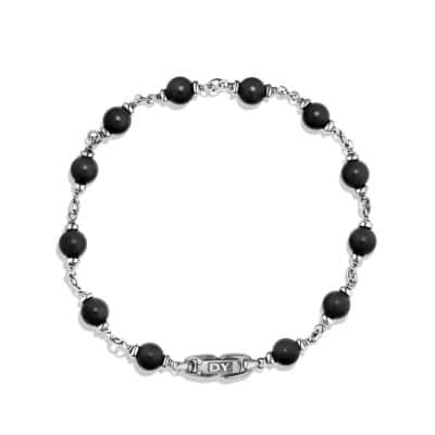 Rosary Bead Bracelet in Black Onyx