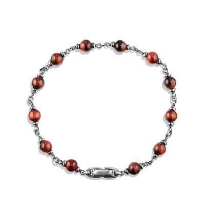 Rosary Bead Bracelet in Red Tiger Eye