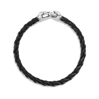 Armory Leather Bracelet in Black