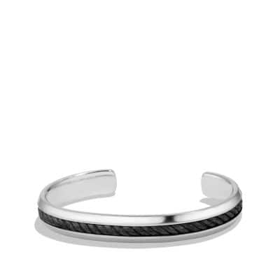 Cable Classic Cuff Bracelet with Forged Carbon Cable