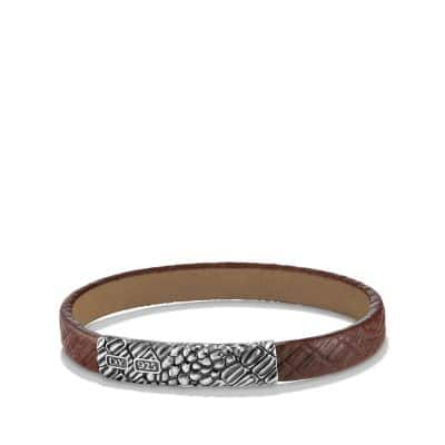 Naturals Gator Leather Bracelet in Brown