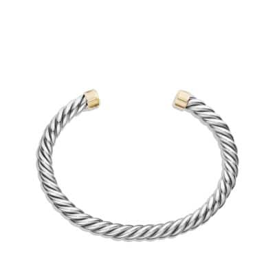 Cable Classic Cuff Bracelet with 18K Gold