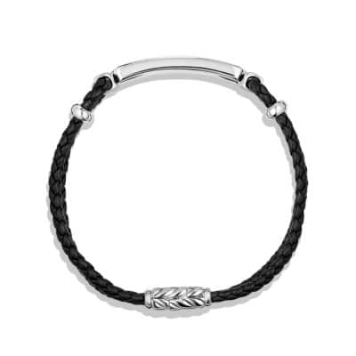 Exotic Stone Bar Station Bracelet in Black Leather with Black Onyx