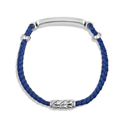 Station Blue Leather Bracelet with Lapis Lazuli